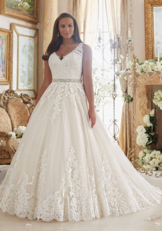 70 Elegant Ball Gown Wedding Dresses For Plus Size 07