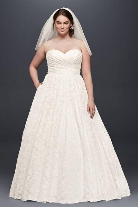 70 Elegant Ball Gown Wedding Dresses For Plus Size 26