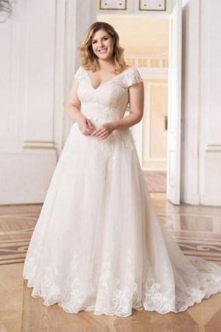 70 Elegant Ball Gown Wedding Dresses For Plus Size 32