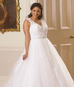 70 Elegant Ball Gown Wedding Dresses For Plus Size 69