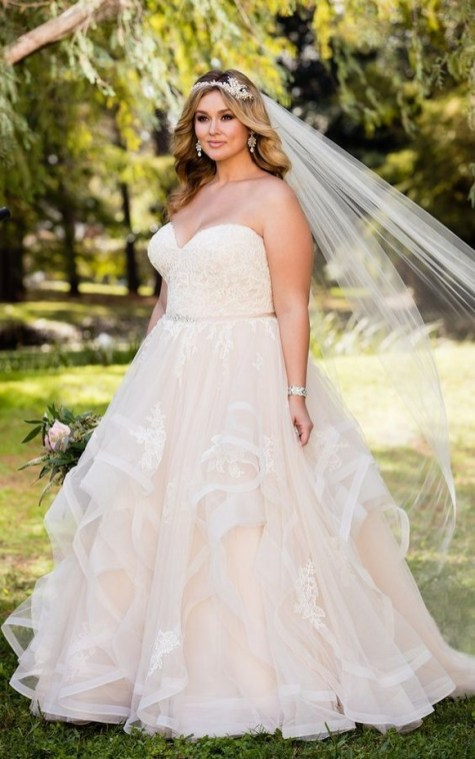 70 Elegant Ball Gown Wedding Dresses For Plus Size 73