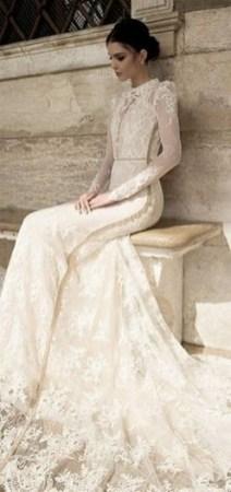 70 Long Sleeve Lace Wedding Dresses Ideas 04