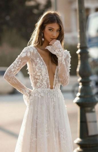 70 Long Sleeve Lace Wedding Dresses Ideas 06