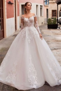 70 Long Sleeve Lace Wedding Dresses Ideas 09