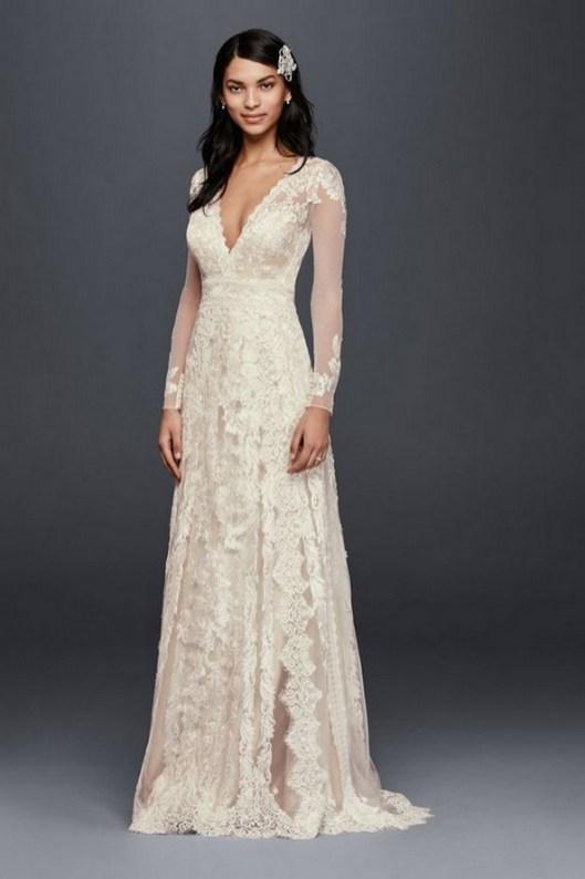 70 Long Sleeve Lace Wedding Dresses Ideas 12