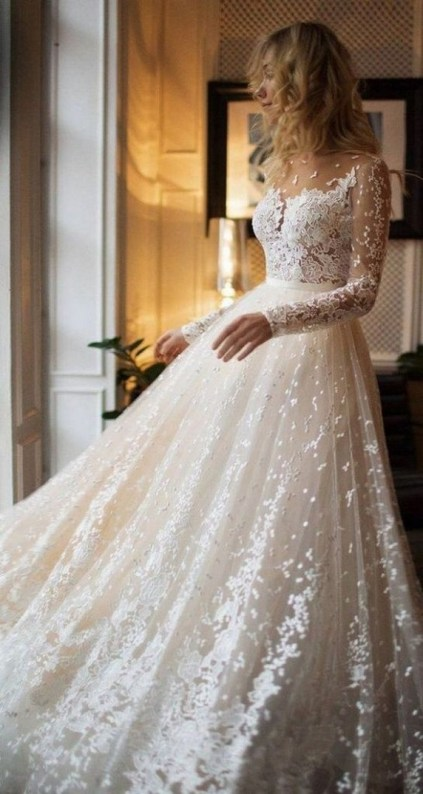 70 Long Sleeve Lace Wedding Dresses Ideas 13