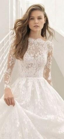 70 Long Sleeve Lace Wedding Dresses Ideas 35