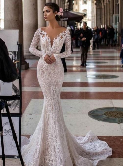 70 Long Sleeve Lace Wedding Dresses Ideas 38