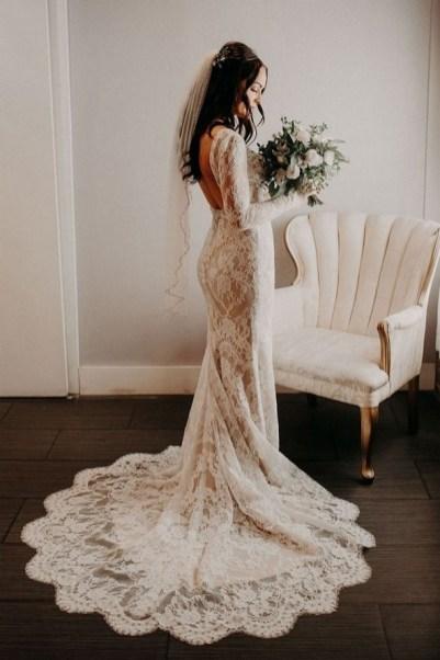 70 Long Sleeve Lace Wedding Dresses Ideas 45
