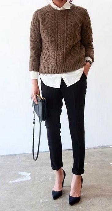 75 How to Wear Sweater for Working Women 25