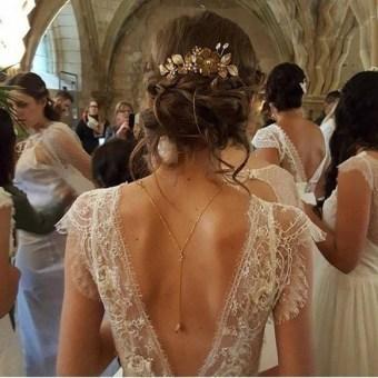80 Adorable V Shape Back Wedding Dresses You Need to See 10
