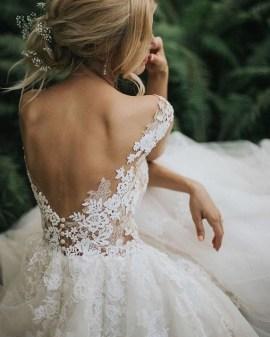 80 Adorable V Shape Back Wedding Dresses You Need to See 22