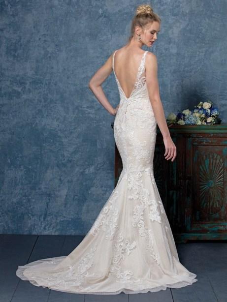 80 Adorable V Shape Back Wedding Dresses You Need to See 35