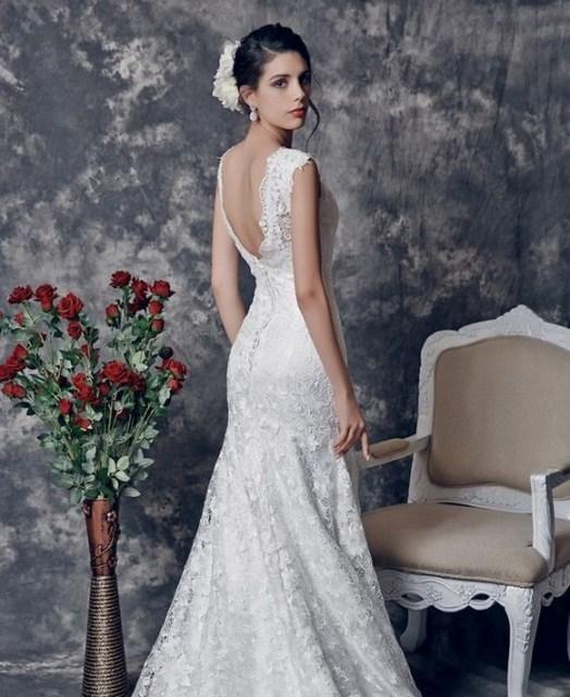 80 Adorable V Shape Back Wedding Dresses You Need to See 50