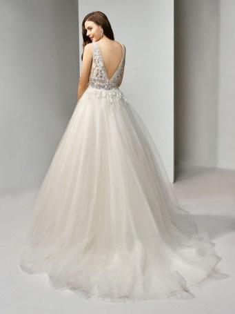80 Adorable V Shape Back Wedding Dresses You Need to See 6