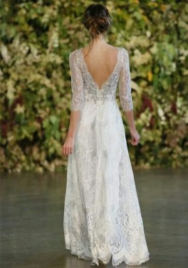80 Adorable V Shape Back Wedding Dresses You Need to See 76