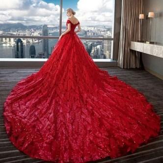 80 Colorful Wedding Dresses Ideas 04