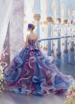 80 Colorful Wedding Dresses Ideas 54