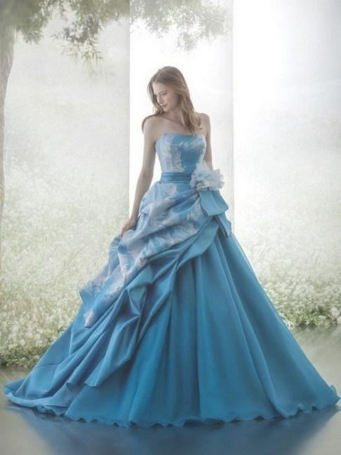 80 Colorful Wedding Dresses Ideas 57