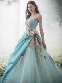 80 Colorful Wedding Dresses Ideas 67