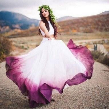 80 Colorful Wedding Dresses Ideas 68