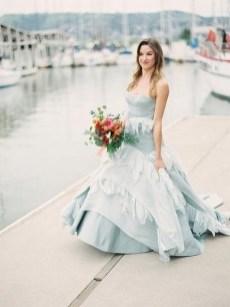 80 Colorful Wedding Dresses Ideas 79