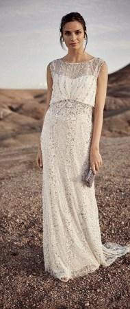 80 Inspiring Beautiful Sequin Bridal Gown 3