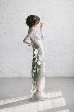 80 Inspiring Beautiful Sequin Bridal Gown 42
