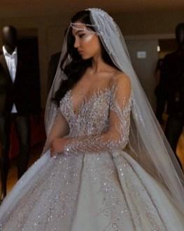80 Inspiring Beautiful Sequin Bridal Gown 61