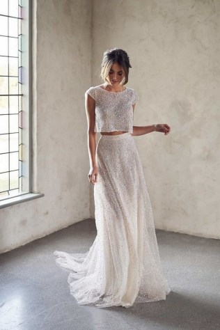80 Inspiring Beautiful Sequin Bridal Gown 7