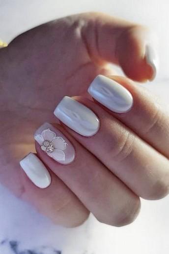 80 The Most Elegant Wedding Nail Art 22