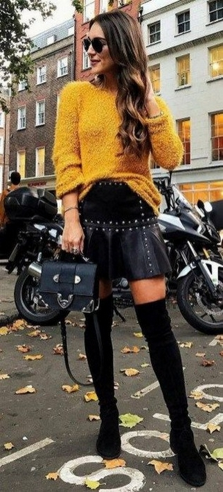 80 Thigh High Boots Outfit Street Style Ideas 12