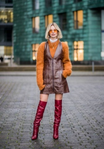 80 Thigh High Boots Outfit Street Style Ideas 18