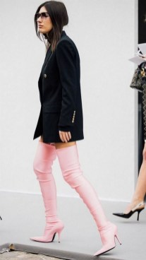 80 Thigh High Boots Outfit Street Style Ideas 21