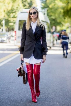 80 Thigh High Boots Outfit Street Style Ideas 24