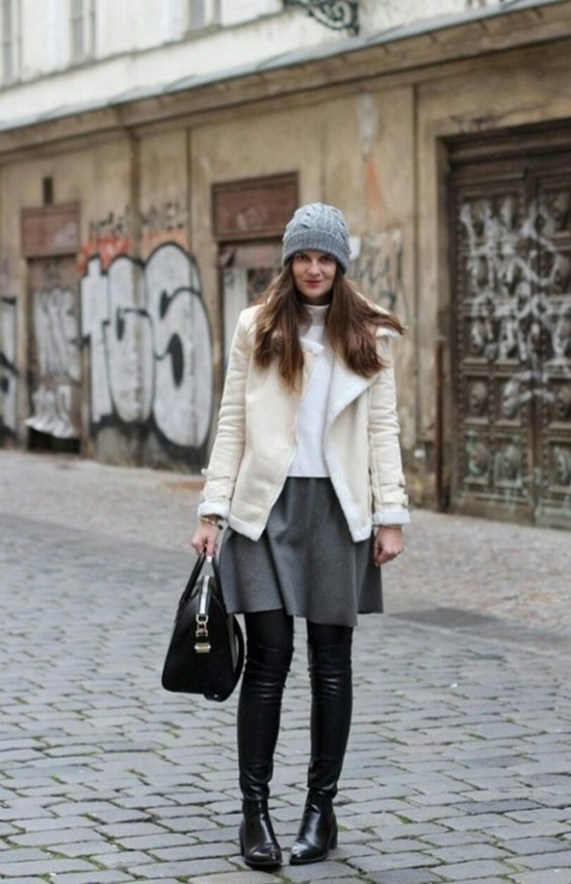 80 Thigh High Boots Outfit Street Style Ideas 26