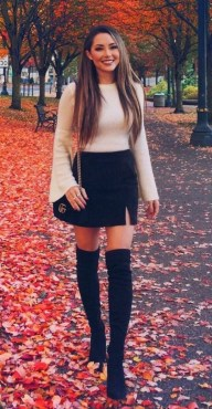 80 Thigh High Boots Outfit Street Style Ideas 28