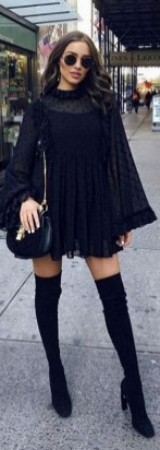 80 Thigh High Boots Outfit Street Style Ideas 35