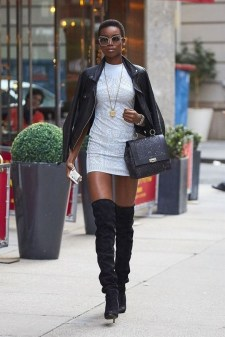 80 Thigh High Boots Outfit Street Style Ideas 43