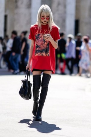 80 Thigh High Boots Outfit Street Style Ideas 49
