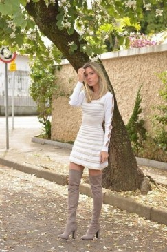 80 Thigh High Boots Outfit Street Style Ideas 55