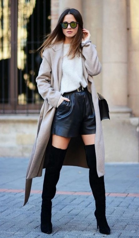 80 Thigh High Boots Outfit Street Style Ideas 64