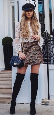 80 Thigh High Boots Outfit Street Style Ideas 75