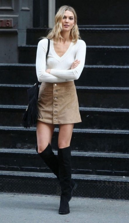 80 Thigh High Boots Outfit Street Style Ideas 77