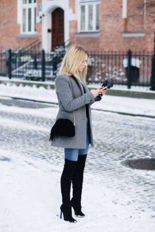 80 Thigh High Boots Outfit Street Style Ideas 83
