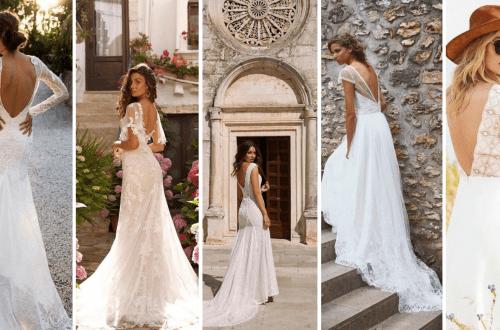 Adorable V Shape Back Wedding Dresses You Need to See