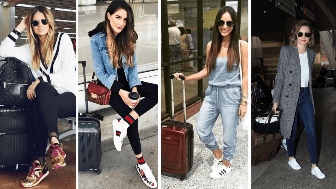 Comfy and Fashionable Travel Airport Outfits Looks
