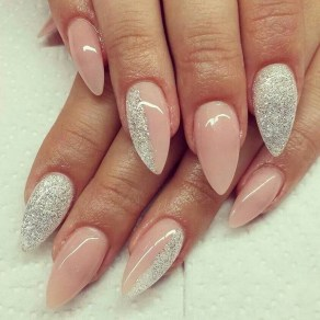 50 Acrylic Nails Ideas with Glitter Which You Love 04