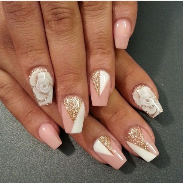 50 Acrylic Nails Ideas with Glitter Which You Love 08