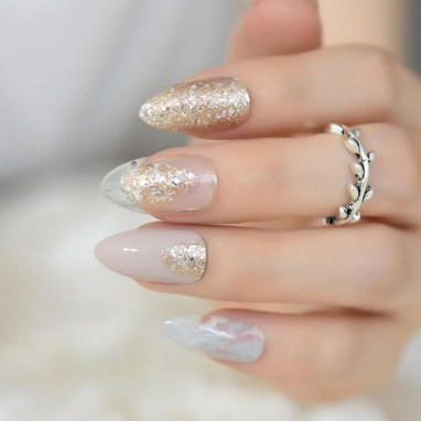 50 Acrylic Nails Ideas with Glitter Which You Love 13